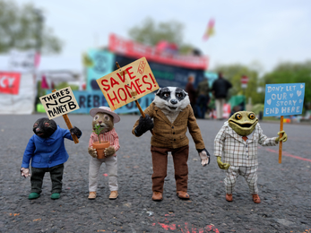 Mole, Ratty, Badger & Toad campaigning