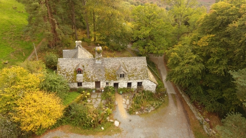 RWT Gilfach Longhouse from above
